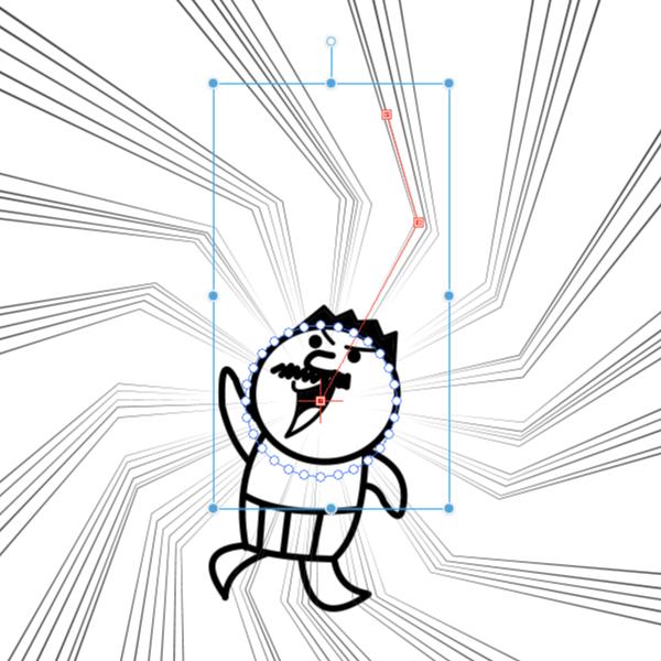 クリスタ:集中線レイヤー(制御点)