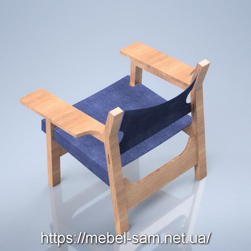 Кресло из фанеры - вид сзади