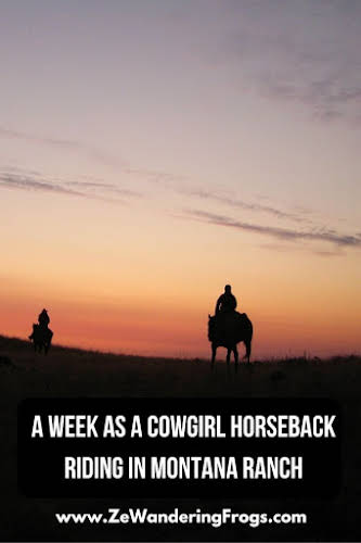 A Week as a Cowgirl Horseback Riding in Montana Ranch // Sunrise Ride