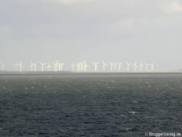 Mächtig viel Strom vor Nordfriesland