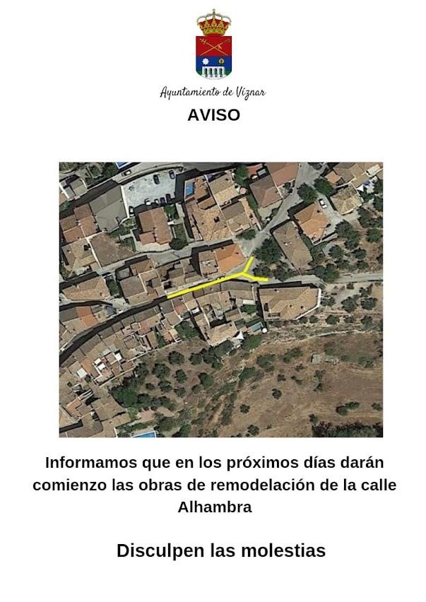 Obras Calle Alhambra Viznar 2021