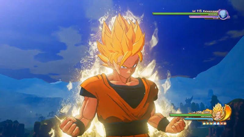 Ảnh Son Goku vào trạng thái Surge.