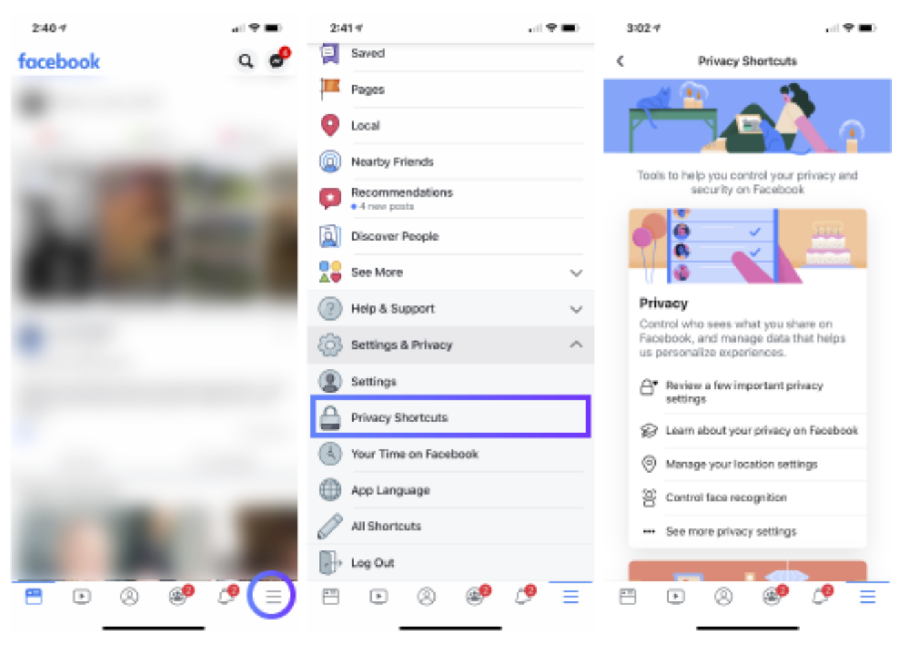 Enable Privacy Shortcuts in Facebook