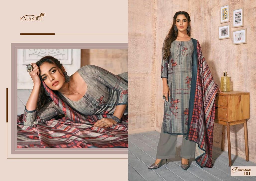 Emerson Kalakriti Pashmina Dress Material Manufacturer Wholesaler
