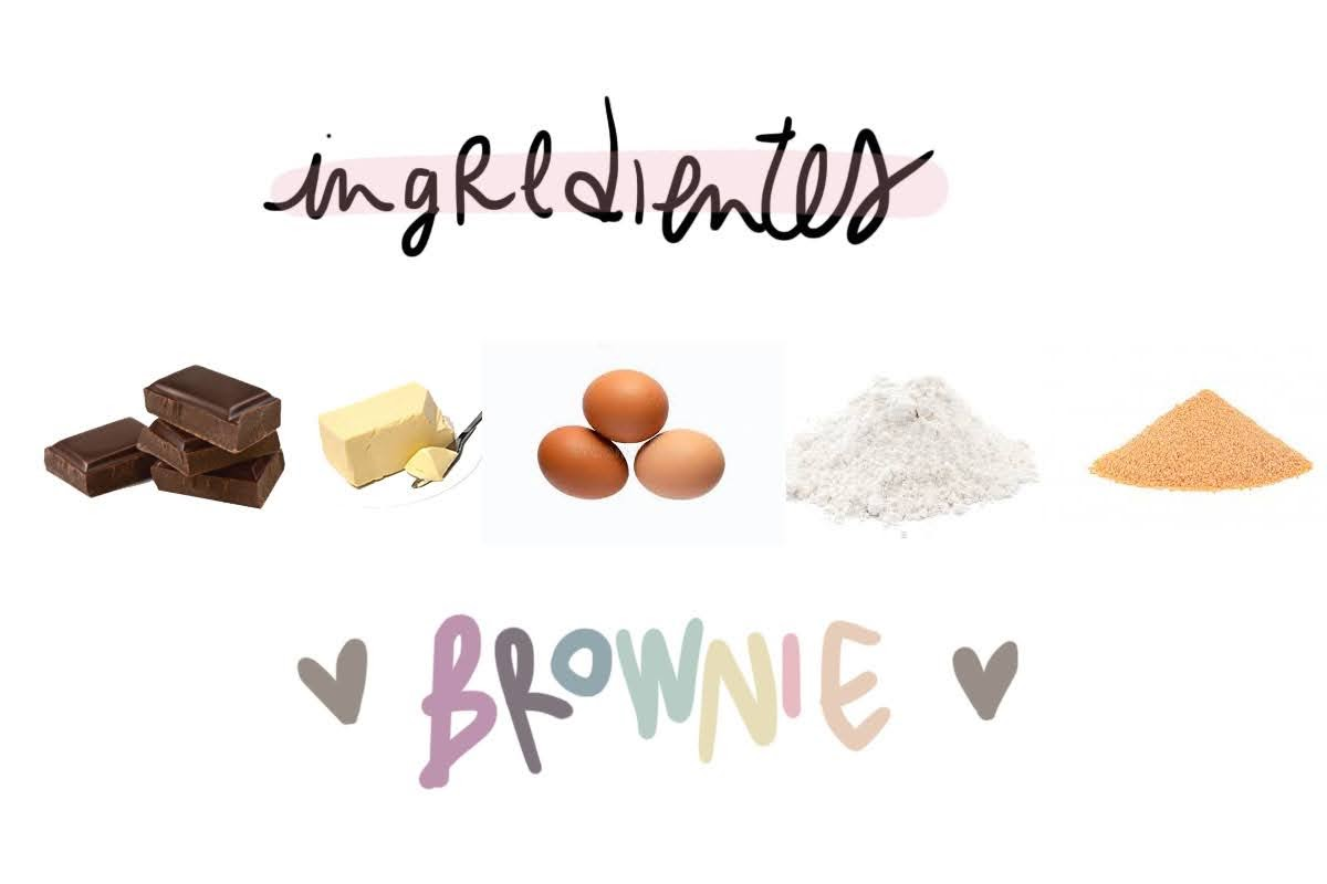 ingredientes brownie chocolate