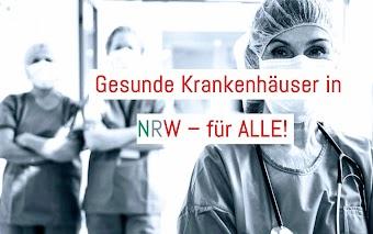 Krankenhauspersonal «Gesunde Krankenhäuser in NRW – für ALLE!».