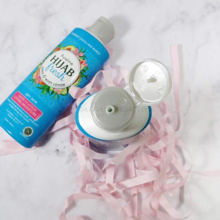 Bentuk tutup botol flip top yang memudahkan saat menggunakan body lotion