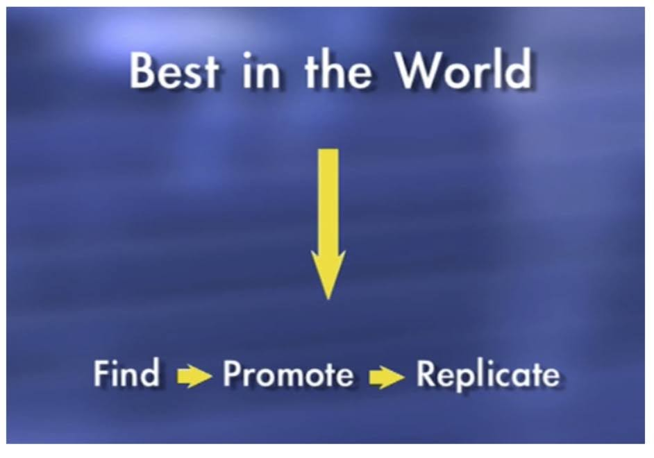 Replicate others' success: Find -> Promote -> Replicate