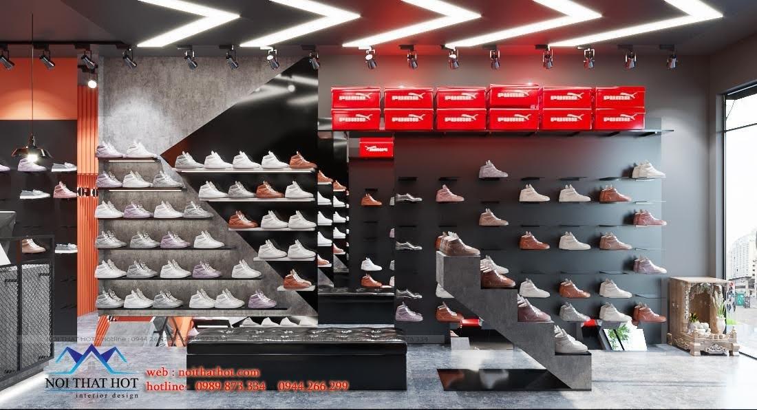 kệ trưng bày giày dép đẹp