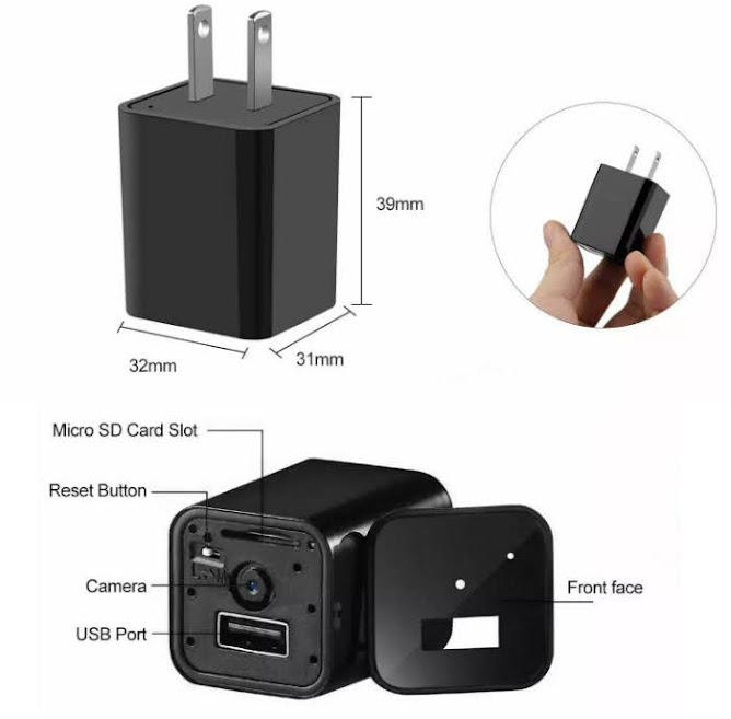 Camera mini cục sạc điện thoại