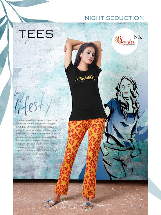 Tees Smylee Ladies Night Suits Manufacturer Wholesaler