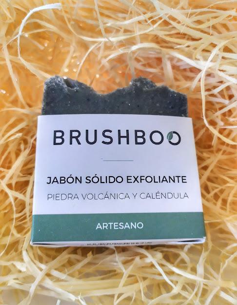 brushboo jabón exfoliante