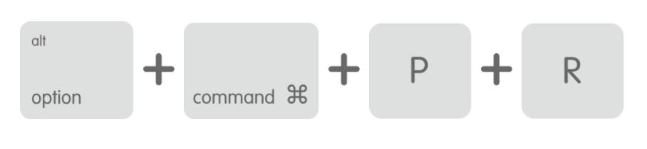 Reset memory (NVRAM and PRAM) for macOS.