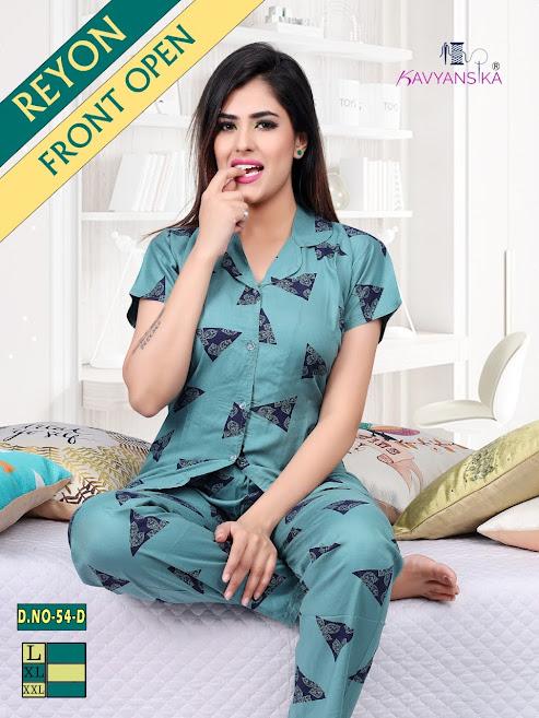 Kavyansika Rayon Collar Night Suit Vol 54 Women Night Suits Catalog Lowest Price