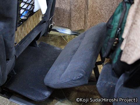南海バス「サザンクロス」長岡・三条線 ・518 足置き台(フットレスト)・レッグレスト