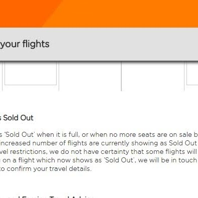 EasyJet flights to Madeira are indicated as 'sold out'.  A way of getting cash and then cancel?