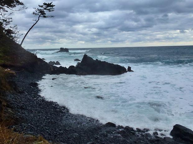 鵜島の碁石海岸