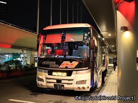 南海バス「サザンクロス」長岡・三条線 ・518 なんば高速BT改札中