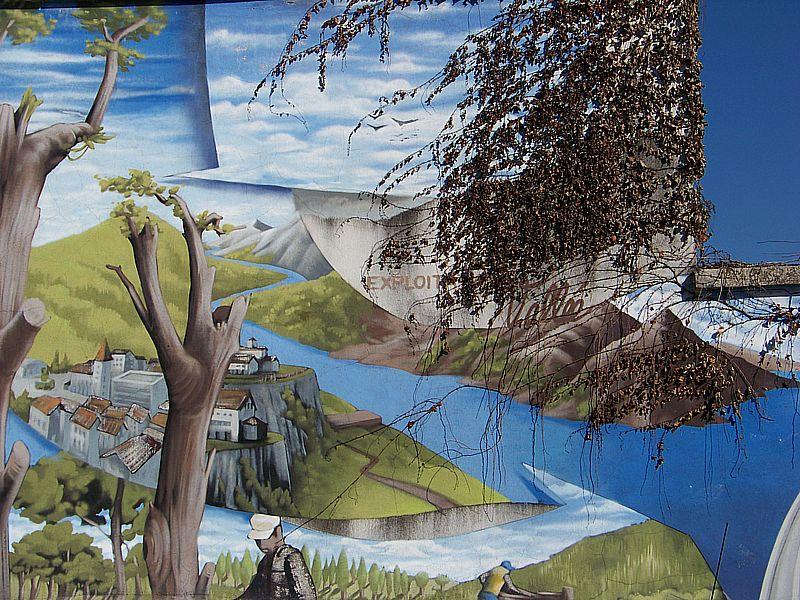 Fresque Aristide Berges à Villard Bonnot