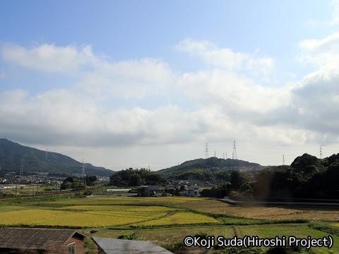 西鉄「はかた号」 0001 佐波川SA発車後の風景