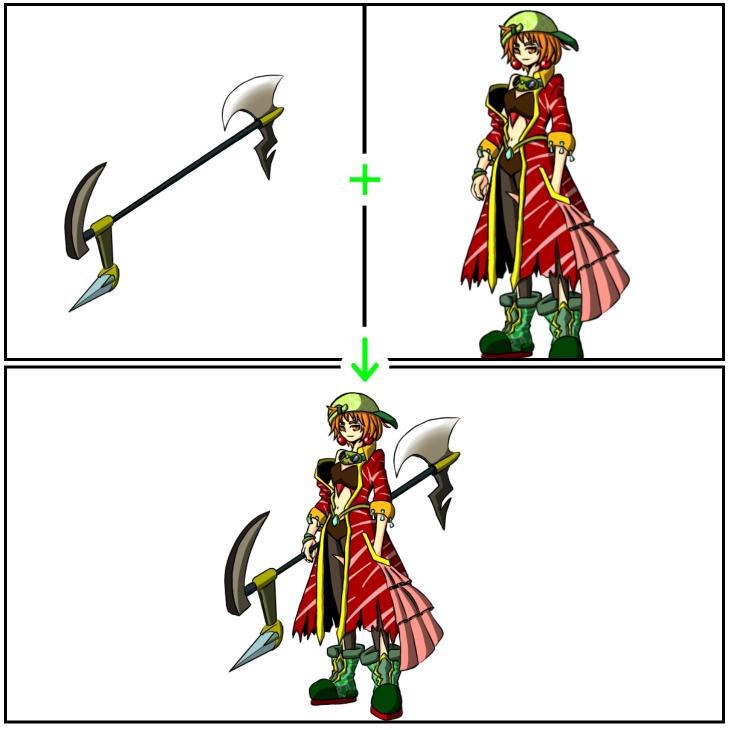 クリスタのマスク使用例(合成)