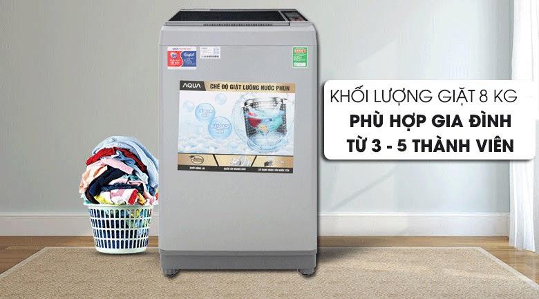 Máy giặt cửa trên AQUA 8 kg AQW-S80CT 8 kg