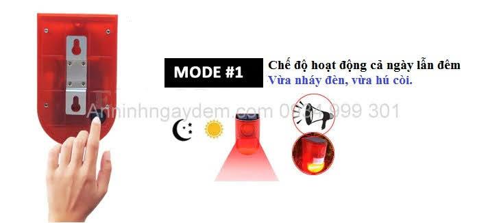 Báo động hồng ngoại dùng năng lượng mặt trời