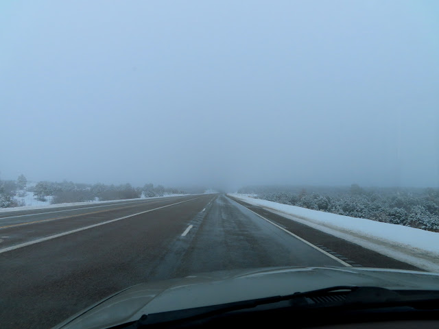 Slick roads on US-191 south of Monticello