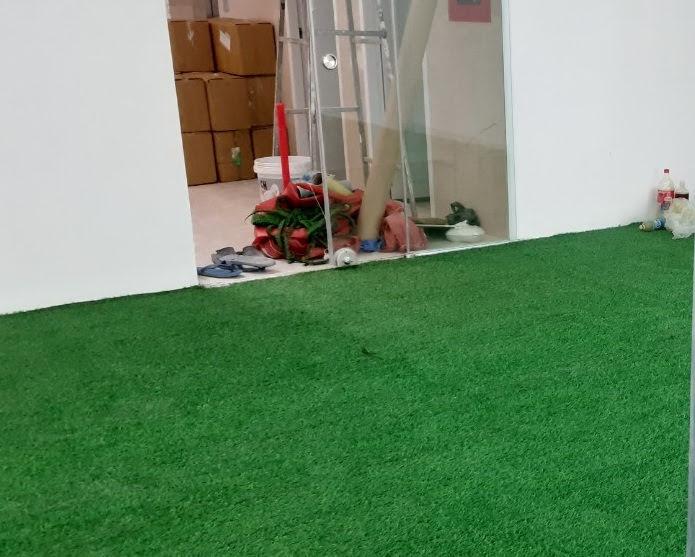 Khá quan trọng trong trang hoàng là Thảm cỏ nhựa