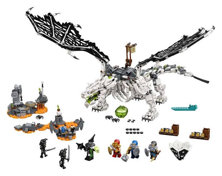 Contenido de Lego® 71721 Dragón del Brujo de los Muertos