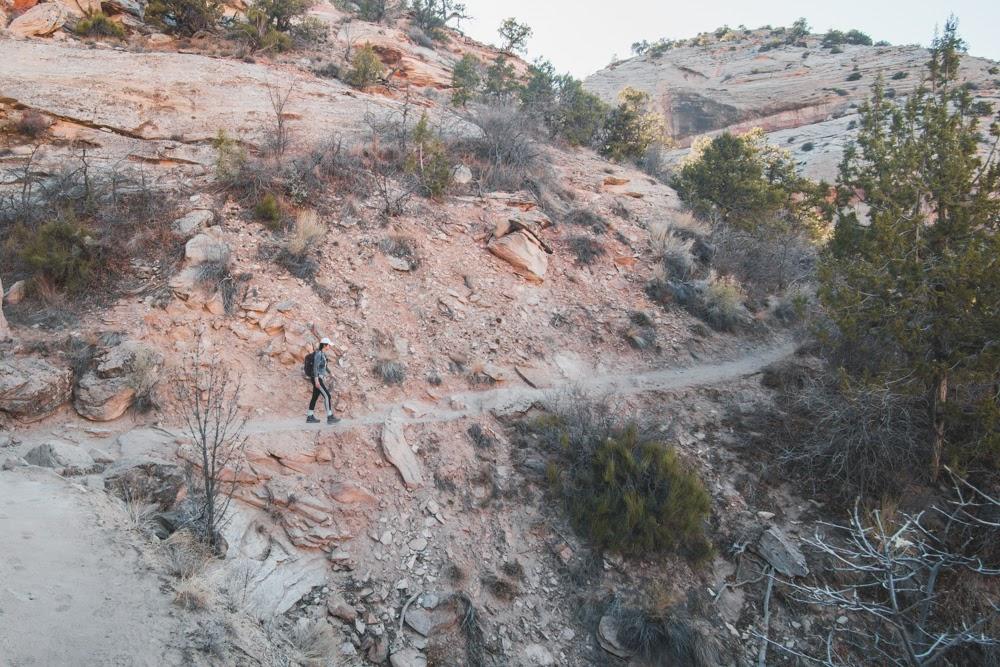 climbing hike