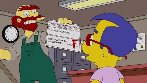 Los Simpsons 20x17 Los buenos, los tristes y los drogrados