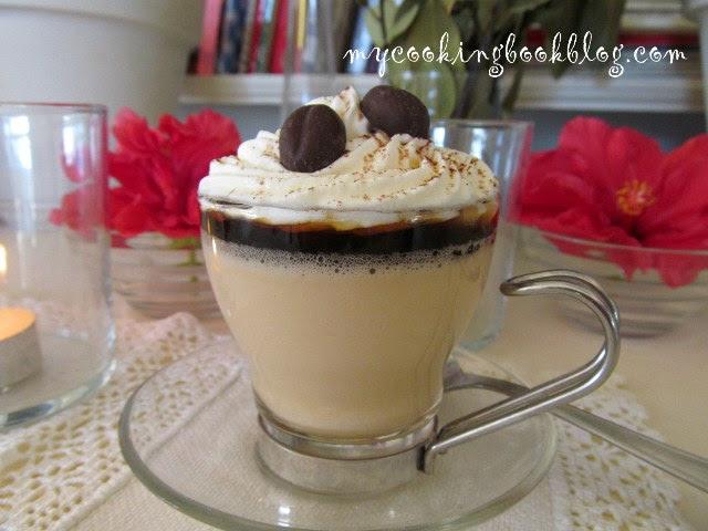 Панакота с кафе и карамелен сос с кафе