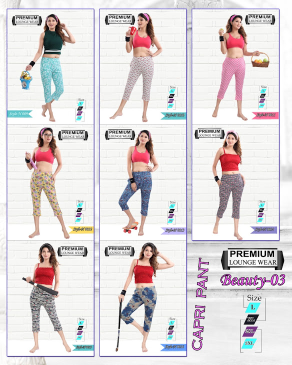 Beauty Vol 3 Kavyansika Designer Capri Manufacturer Wholesaler