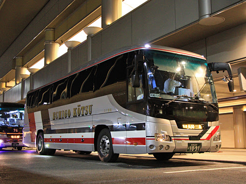 越後交通「三条・長岡~京都・大阪線」 1091 なんば高速BTにて