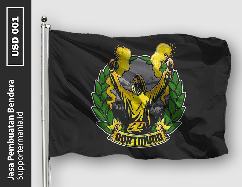 Desain Bendera atau Mini Flag Ultras Borussia Dortmund