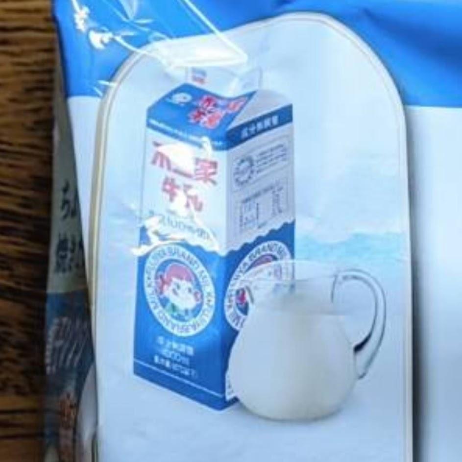 パッケージにあった不二家牛乳のイラスト
