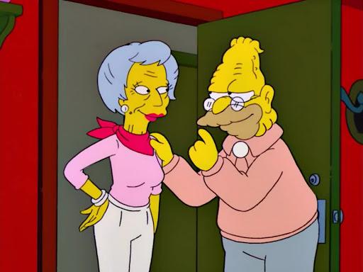 Los Simpsons 13x13 El viejo y el amar
