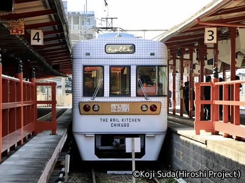 西鉄 6050形改造「THE RAIL KITCHEN CHIKUGO」 全貸切ツアー 太宰府駅到着_02