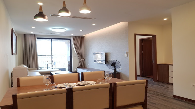 Bright modern 2 – bedroom apartment with balcony in Tay Ho street, Tay Ho district for rent