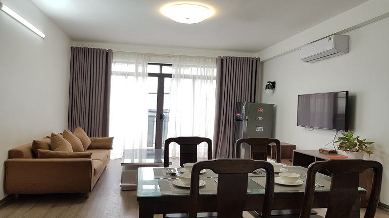 Nice 2 – bedroom apartment with balcony in Yen Phu village, Tay Ho district for rent