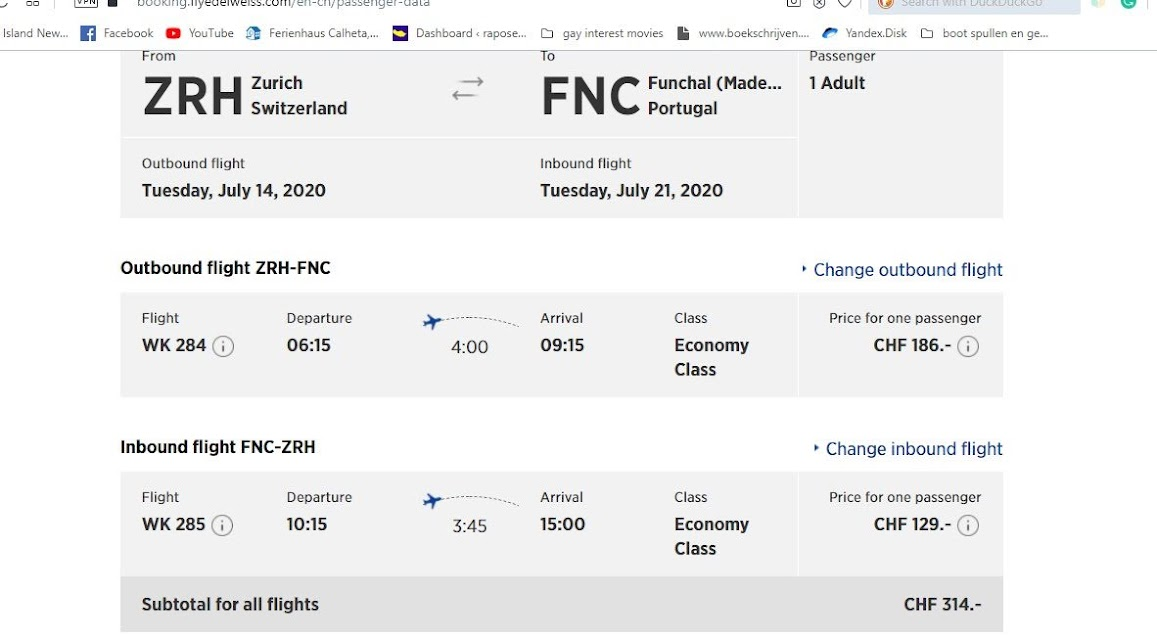 July Edelweiss flights to Madeira are still bookable end of June