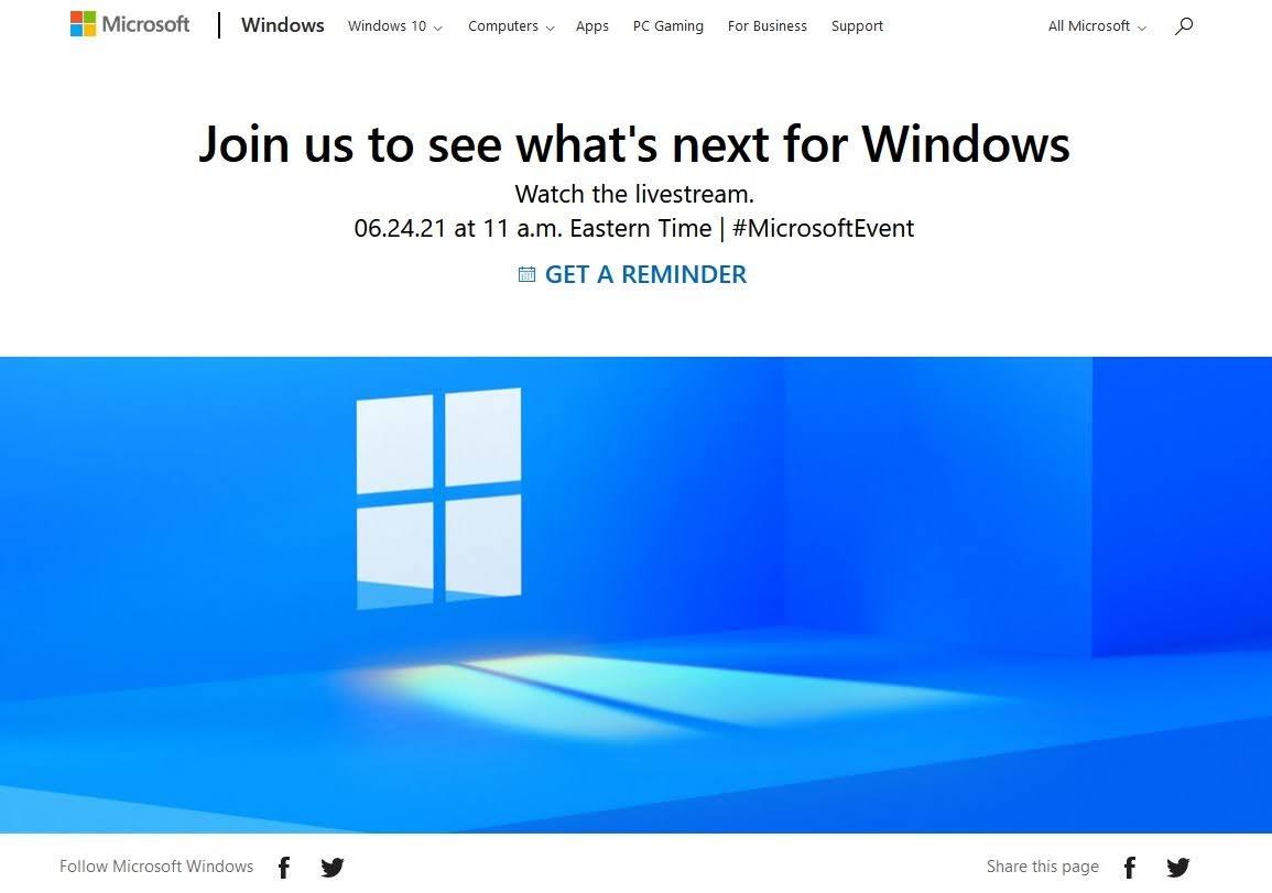 Windows11 6/25 アナウンス