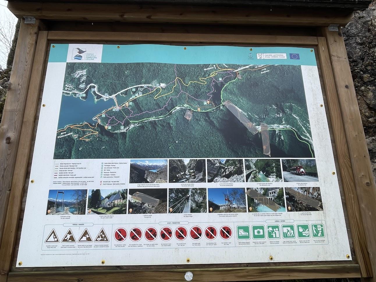 sentiero del dint percorso mappa
