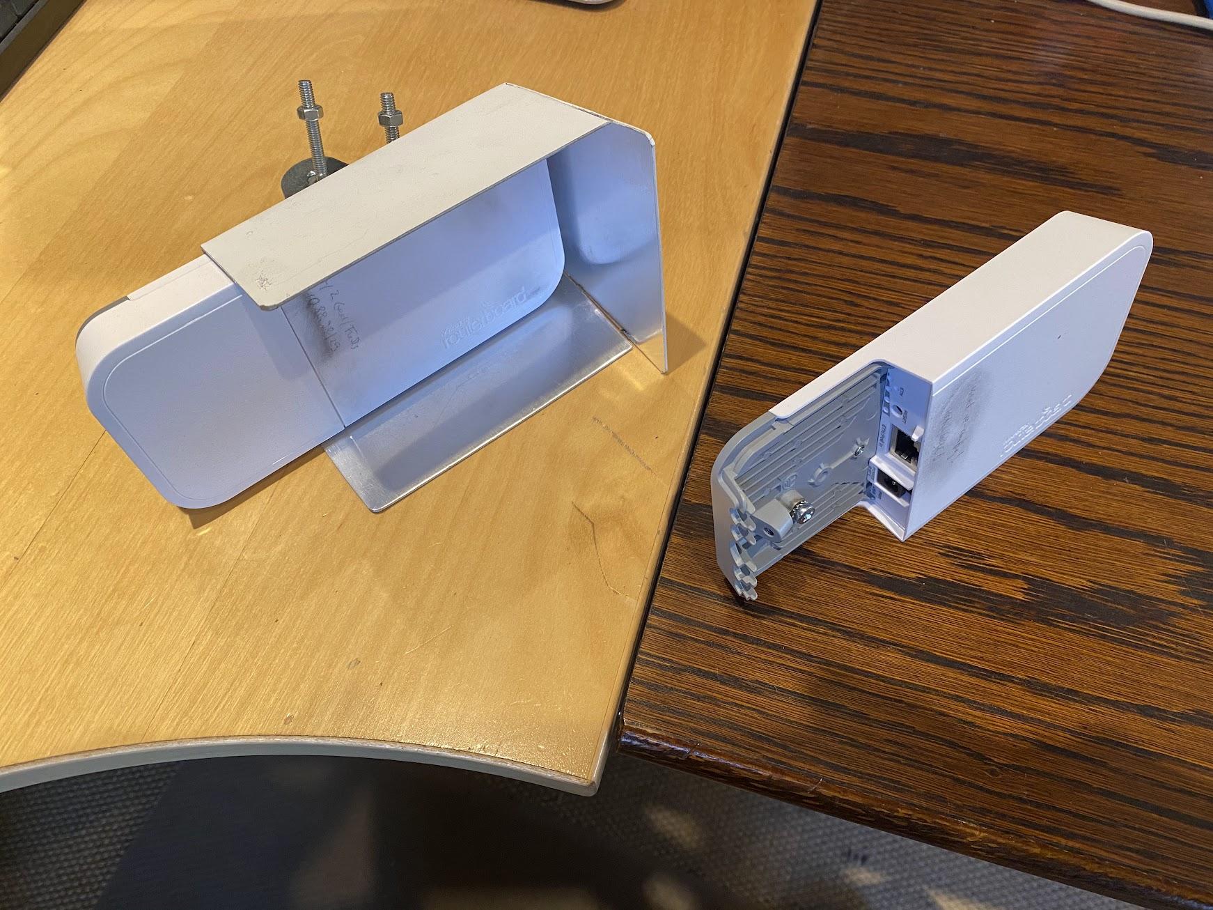 MikroTik wAP 60G - mit und ohne Shield