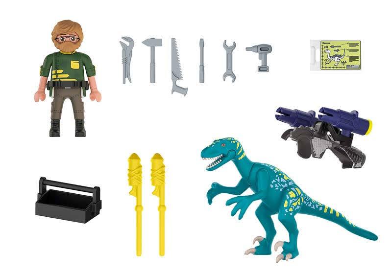 Contenido real de Playmobil® 70629 Uncle Rob: Armamento para la batalla