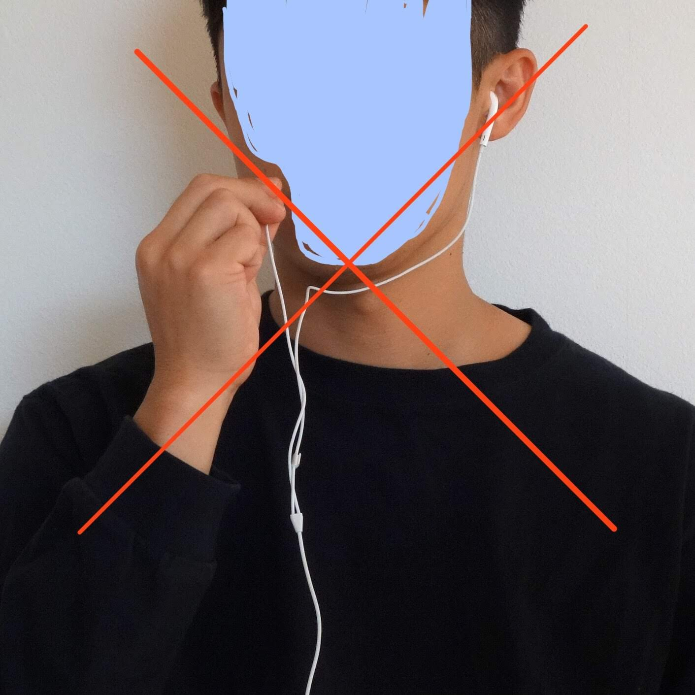 EarPods レビュー マイクを持ち上げる写真