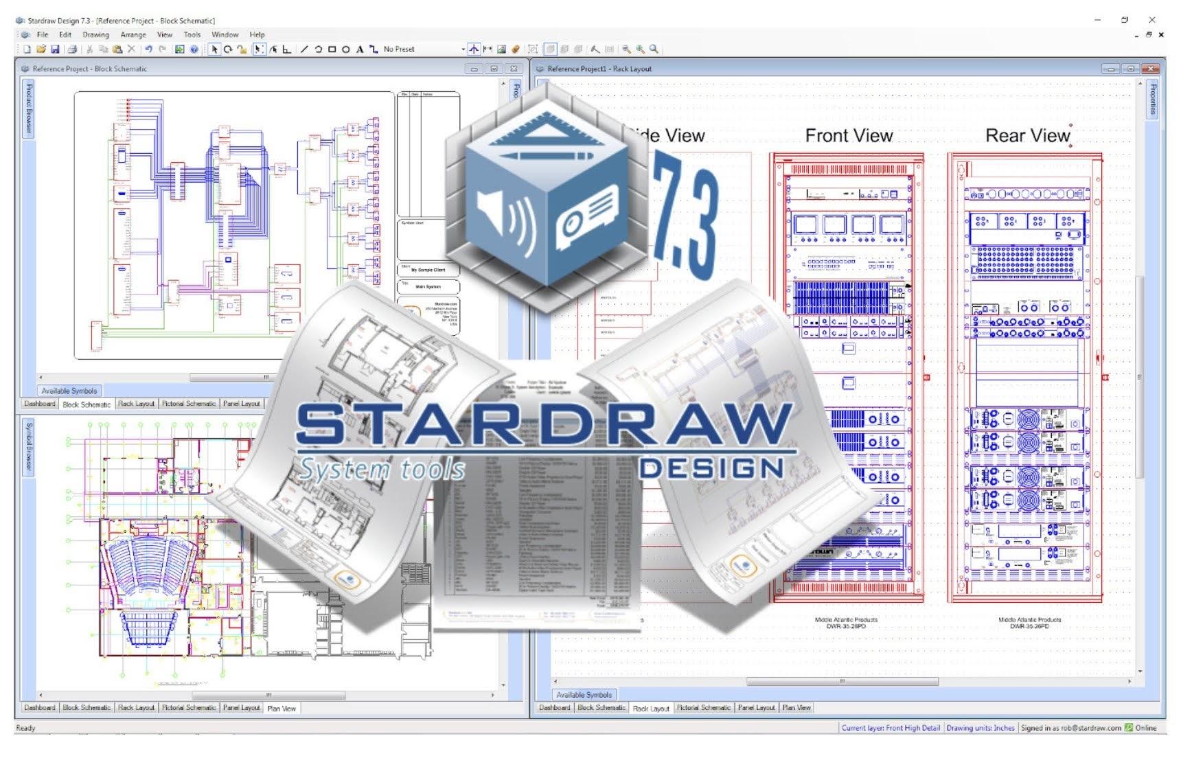Stardraw Design 7.3 Award-Winning Application for AV Systems Integrators