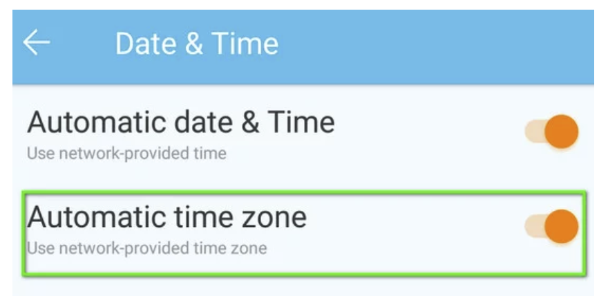 Disable Automatic Date & Time and Timezone.