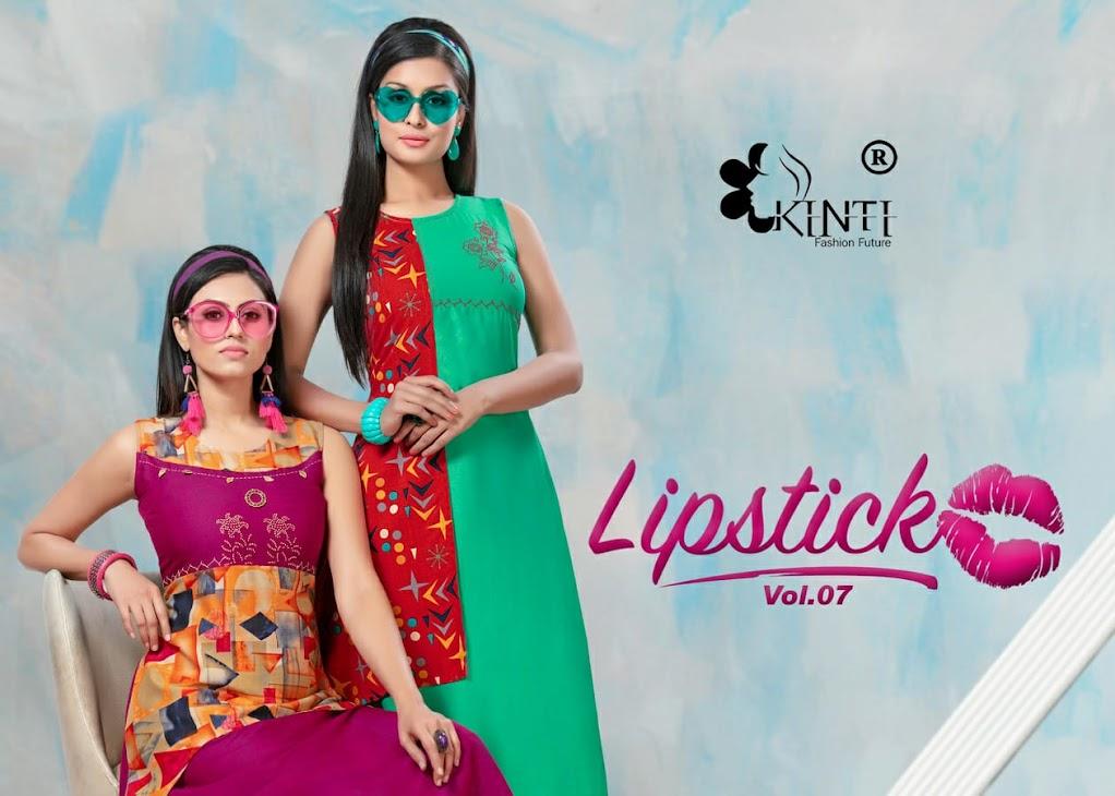 Lipstick Vol 7 Kinti Branded A-Line Kurti Manufacturer Wholesaler
